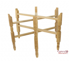 Moroccan Cedar Wood Legs for Table Top Trays for Trays between 75cm and 85cm in Diameter (CWL01)